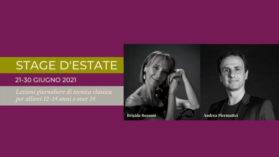 Stage d'estate: tecnica classica con Brigida Bossoni e Andrea Piermattei