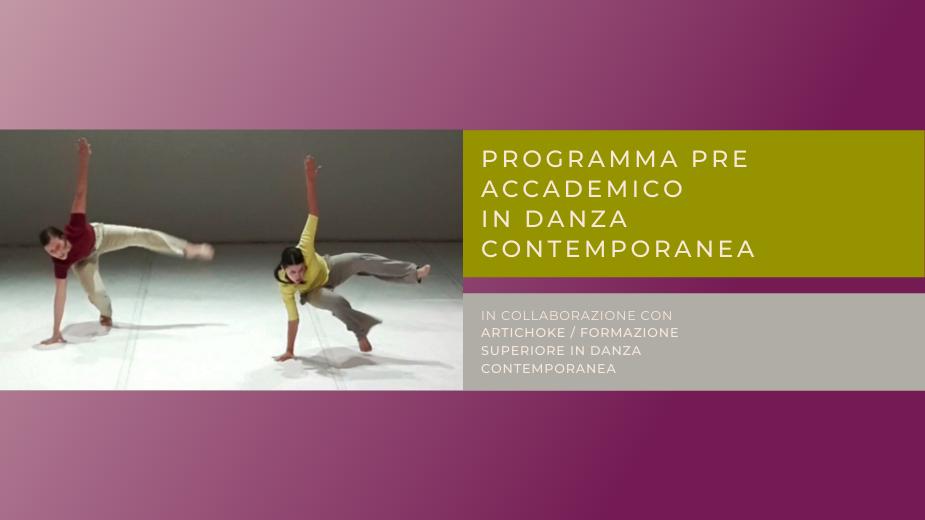 Programma Pre Accademico in Danza contemporanea: iscrizioni aperte tutto settembre!